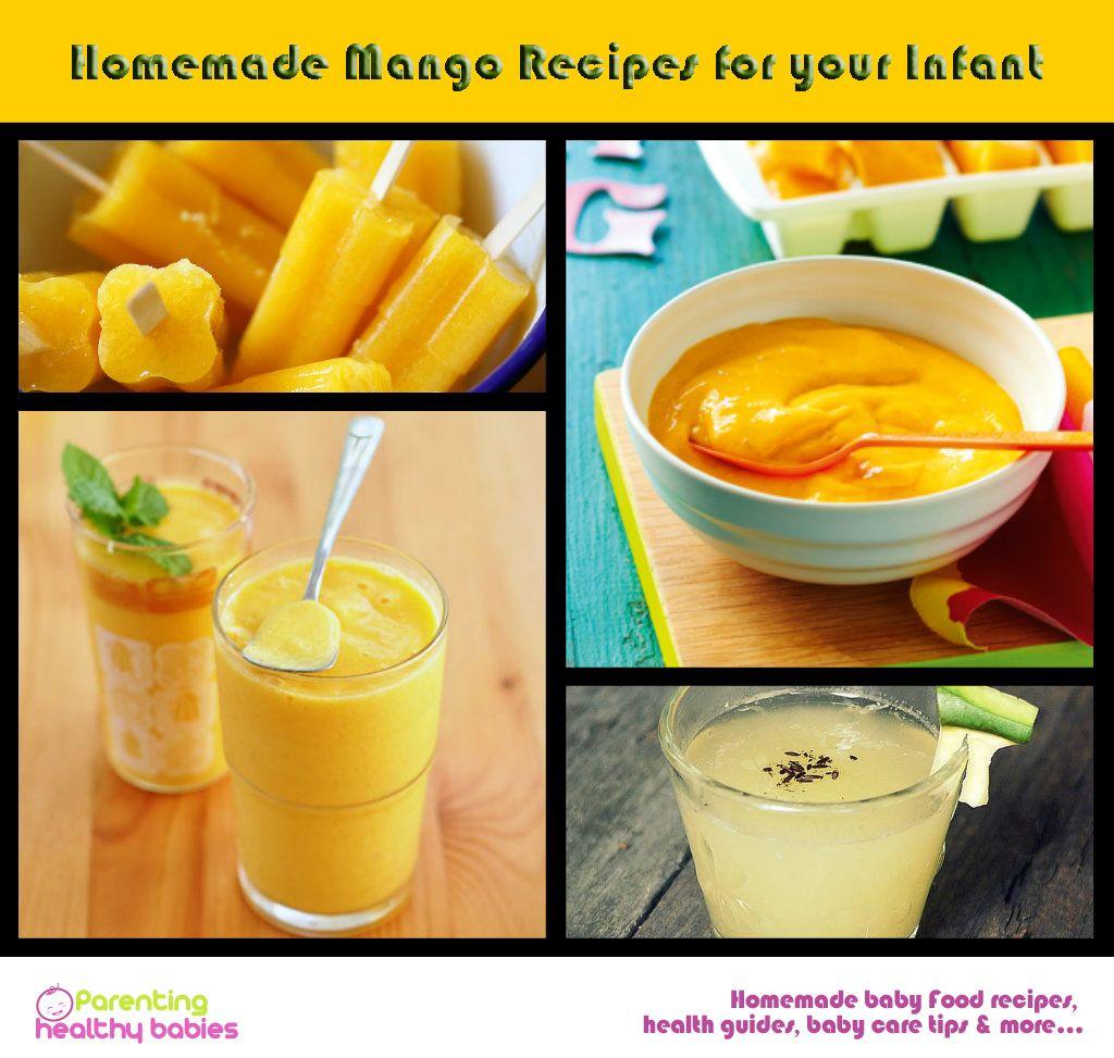 Homemade mango puree recipe for infant pureed food