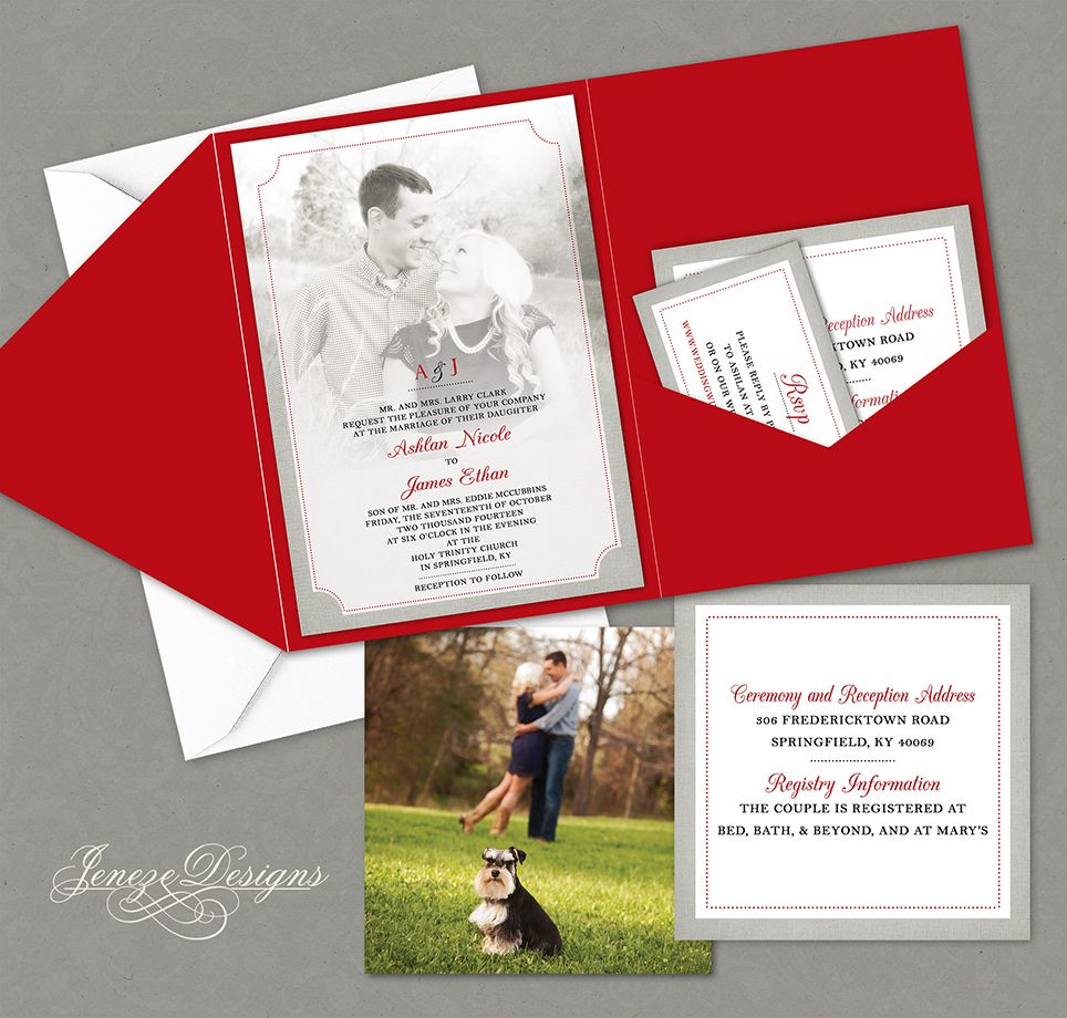 Pocket Invitations | Wedding Invitation | Photo Invitation. Colors ...