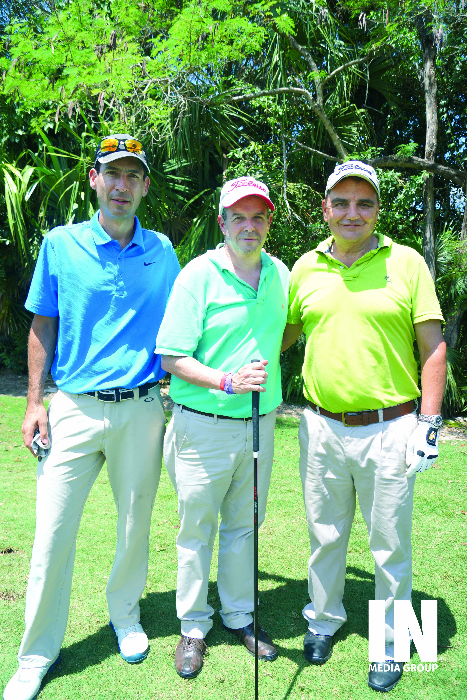 Andrés Arango, Manuel Uribe y Luis Zuluaga.