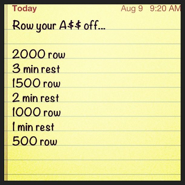 So Excited To Do With My New Rower Row Your A Off