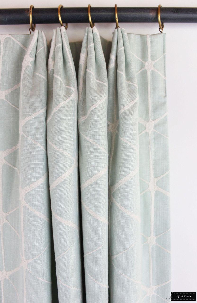 Custom Drapes by Lynn Chalk in Romo Haldon (shown in Spearmint-comes in several colors)