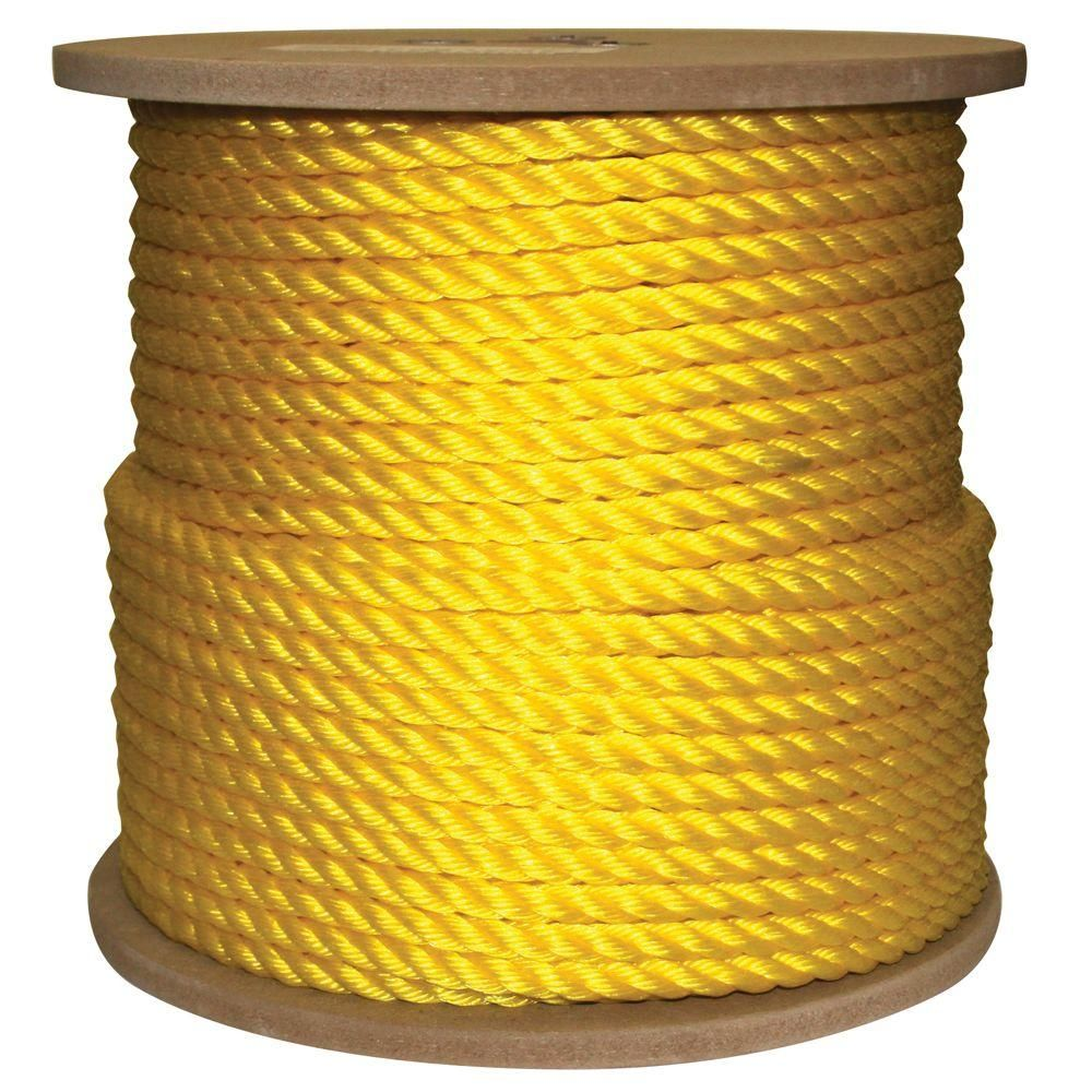 Rope King 1 2 In X 400 Ft Twisted Poly Rope Yellow Yellows Golds Poly Rope Yellow Ebay