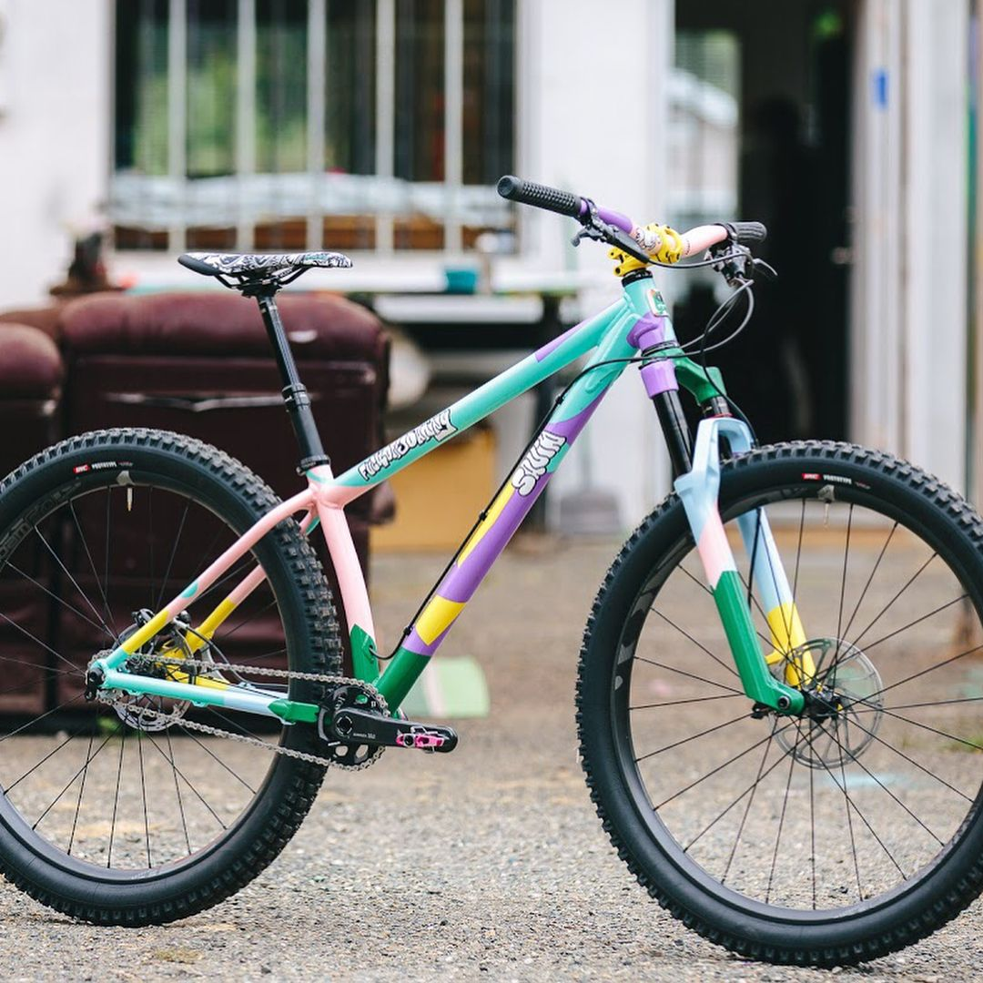 Squid Bikes With A Hot Multi Colored Trail Machine Hardtail
