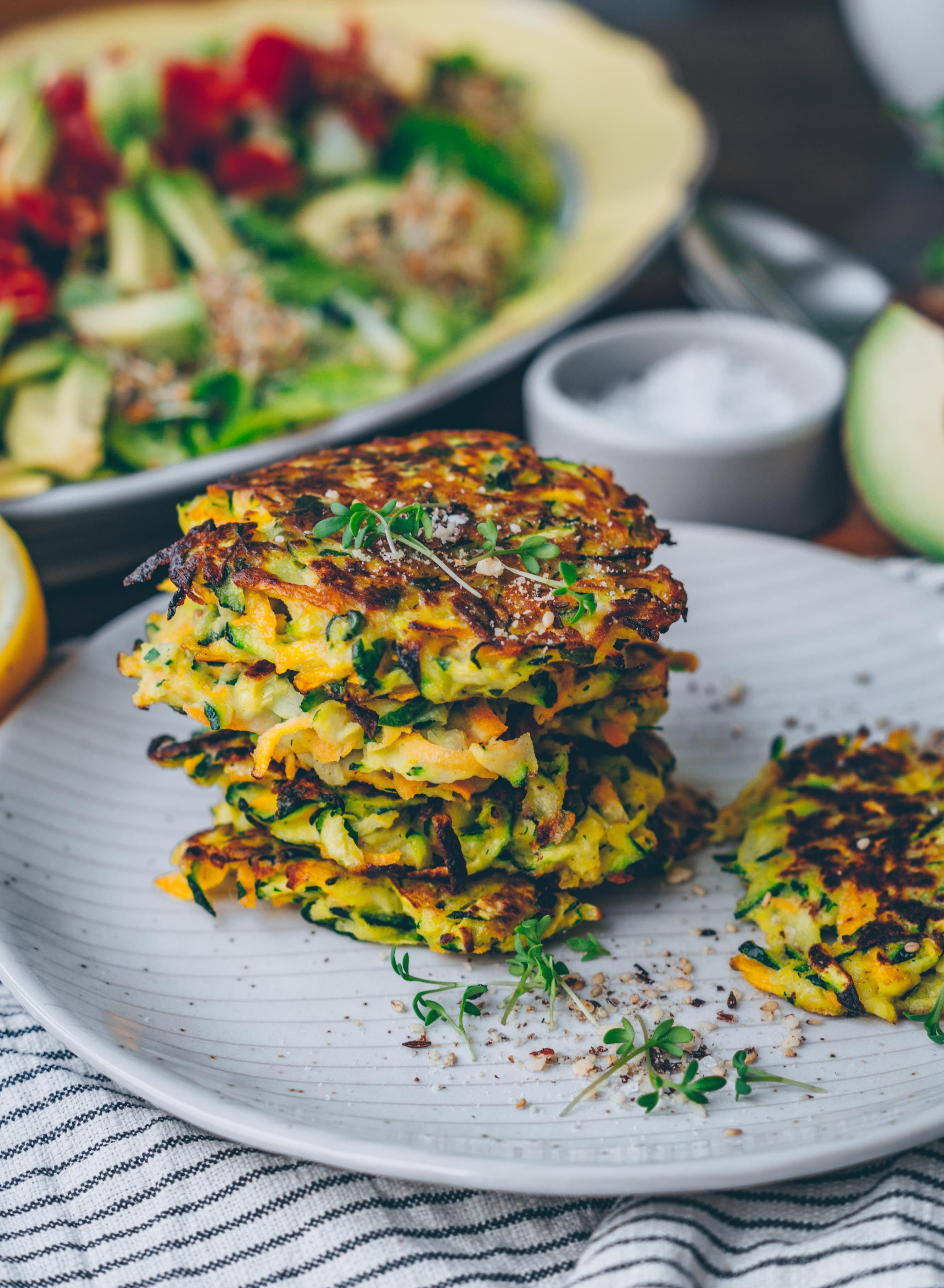 Carrot Zucchini Fritters Vegan Gf In 2019 Vegan