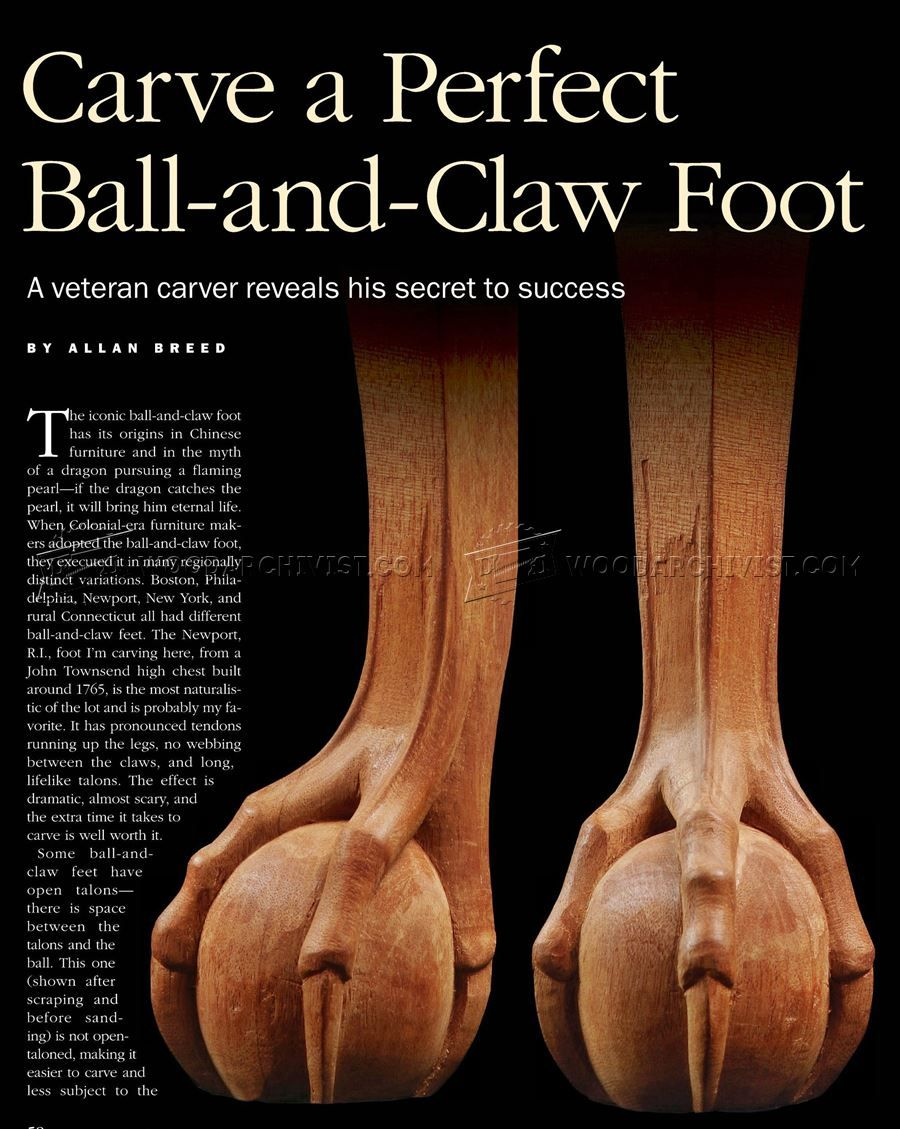 1277 Carving Ball And Claw Foot Furniture Legs Construction Techniques