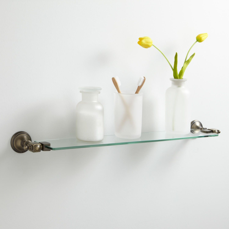 Vintage Tempered Glass Shelf | Tempered glass shelves, Glass shelves ...