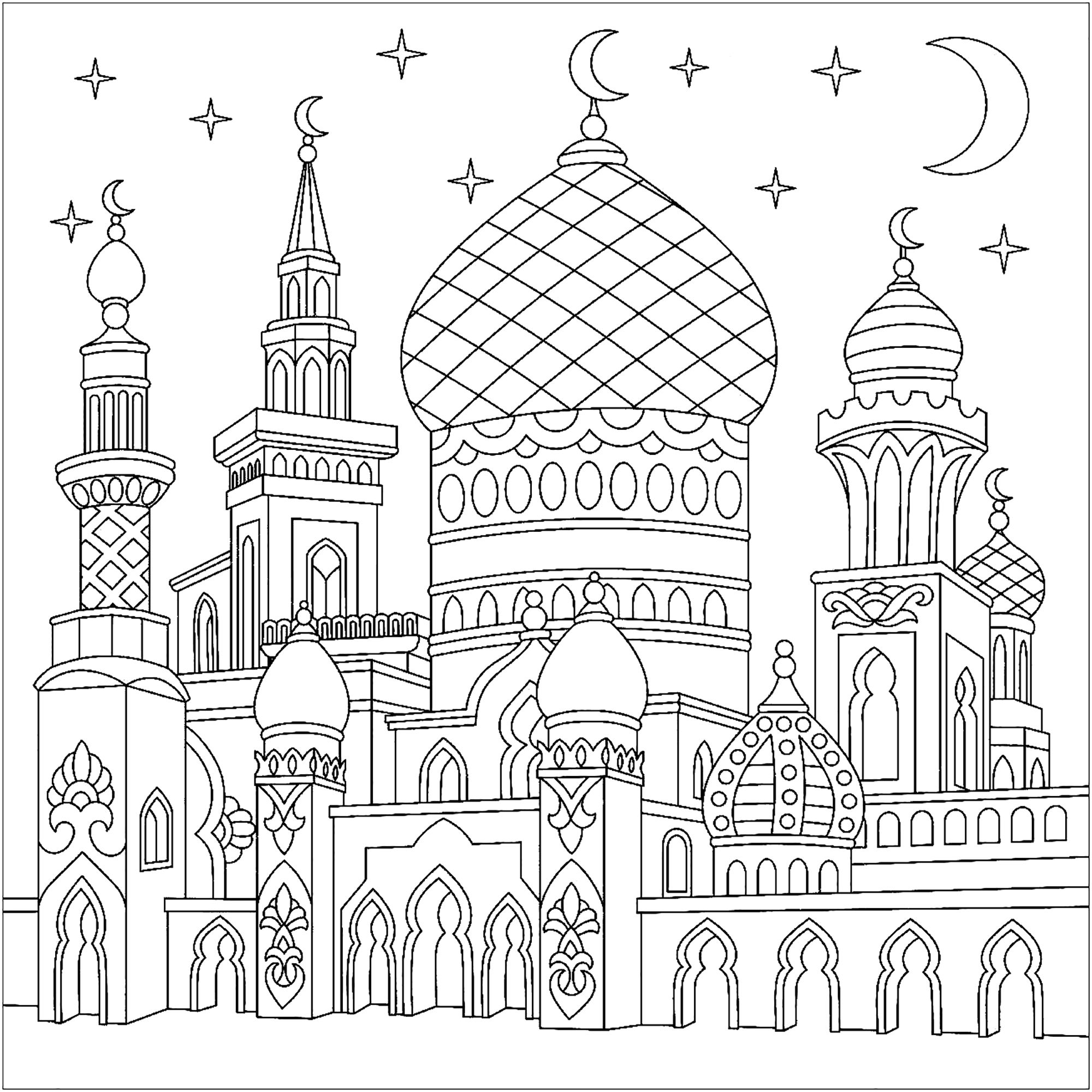 Pin By Ana Rodrigues On Coloring Pages Islamic Art Coloring Books Coloring Pages