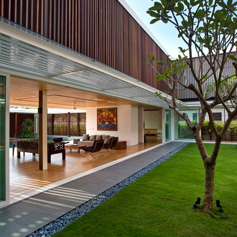stunning eco friendly house with neat grass and small stone rh pinterest com