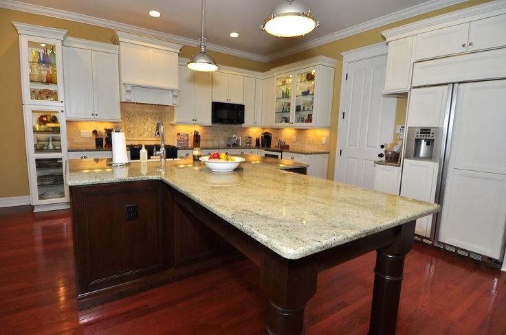 Best Small Kitchen Design With Island For Perfect: T Shaped Kitchen Islands Perfect Shaped Island Is Perfect