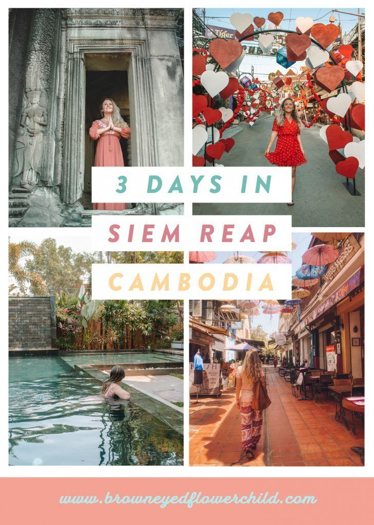 A 3-day itinerary for Siem Reap, Cambodia. Discover everything to do in Siem Reap. #SiemReap #SiemReapCambodia #Cambodia #AngkorWat #AngkorTemples #3DaysinSiemReap #SiemReapItinerary