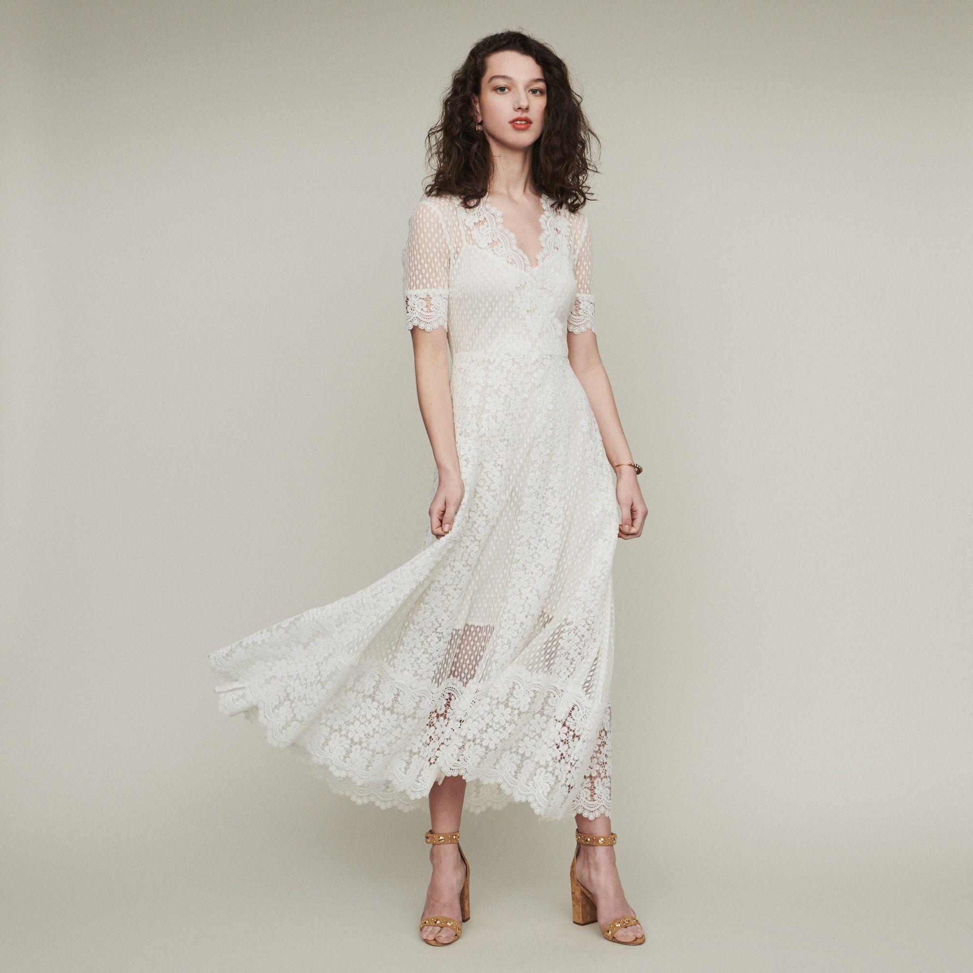 REVANTI Robe longue en plumetis et dentelle | Mariage en