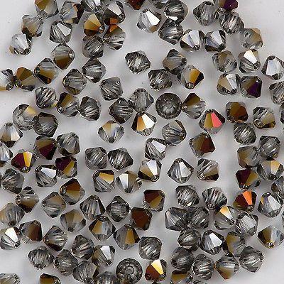 144 Preciosa Czech Crystal 4mm MC Bicone Bead Crystal Zairite HA4-00030ZAI