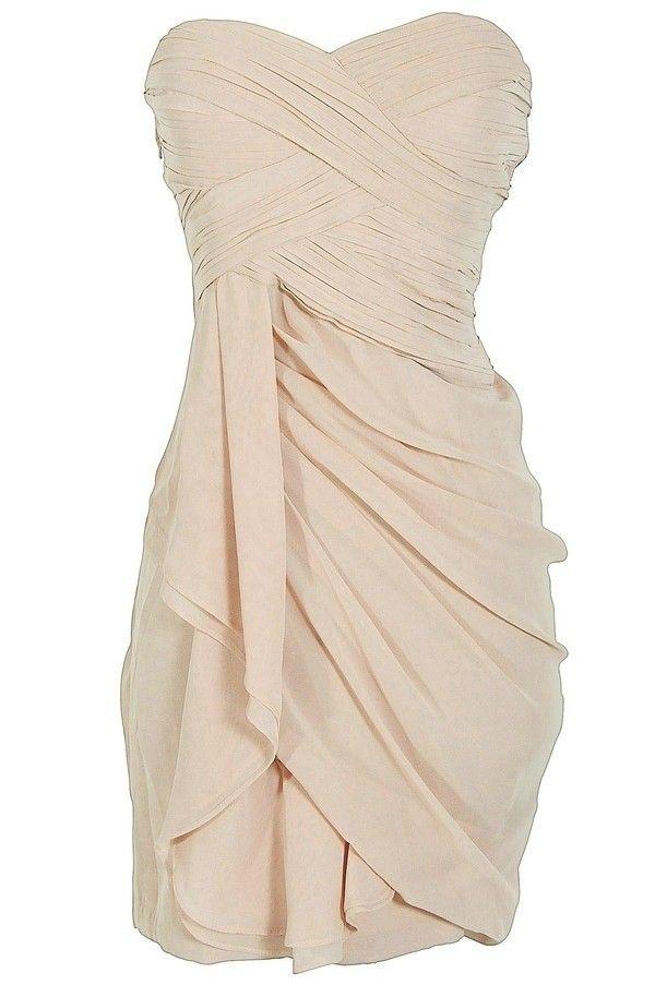230d32cf59ef Dress  semi formal nude tan creme bridesmaids dress