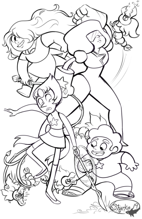 I M Hoping To Have This Colored Some Time Soon But I M Happy With How The Line Art Turned Out Steven Universe Drawing Free Coloring Pages Doodle Art Designs