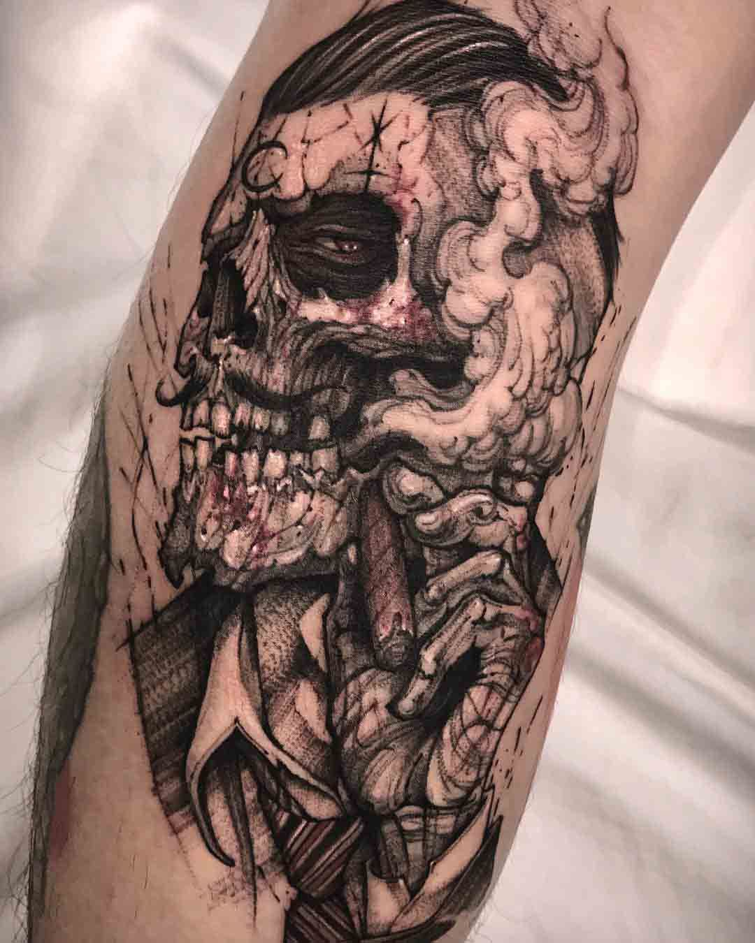 Old Gang Tattoo Graphic Tattoo Calaveras Tatuajes Tatuajes De
