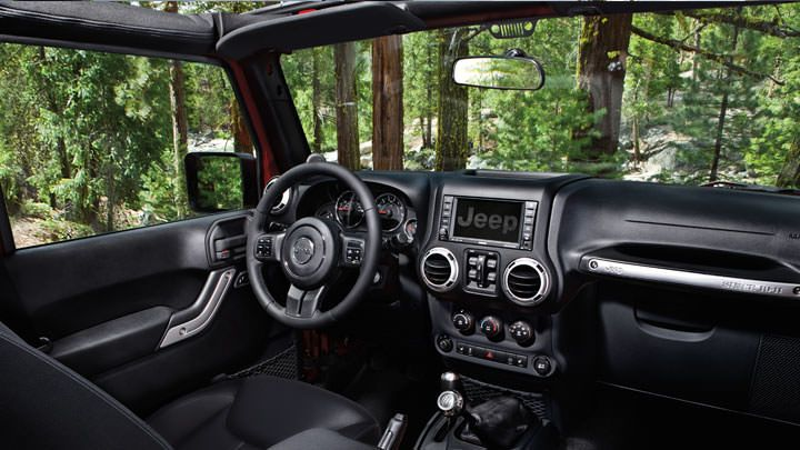 The 2014 Jeep Wrangler Rubicon Interior Shown In Black Jeep