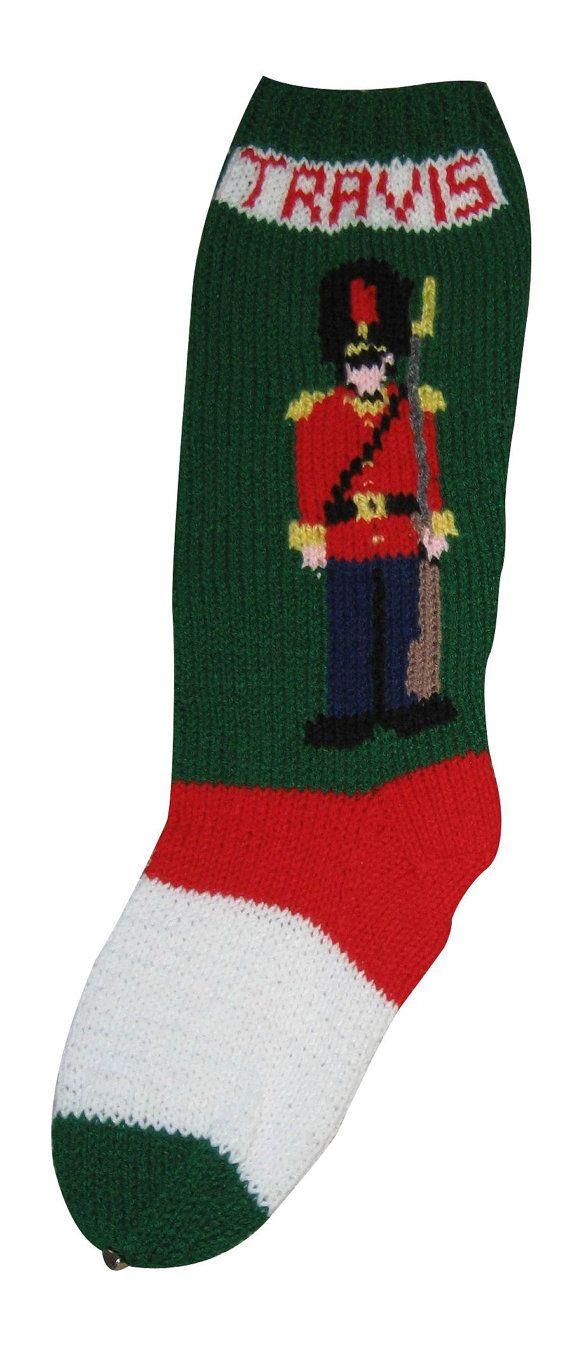 Toy Soldier Stocking Christmas Stocking by SweetlyMadeJustForU ...