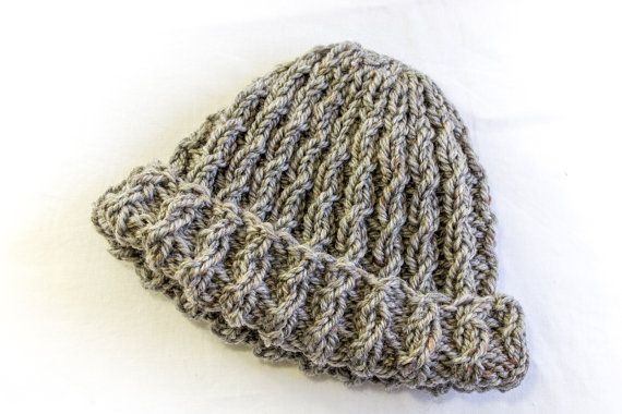 Knitting Pattern Easy Cable Rib Hat Cable Hat Baby Cable Beanie