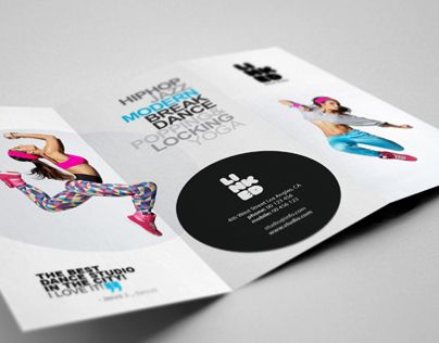 Professional TriFold Brochure Perfect For Dance Studio
