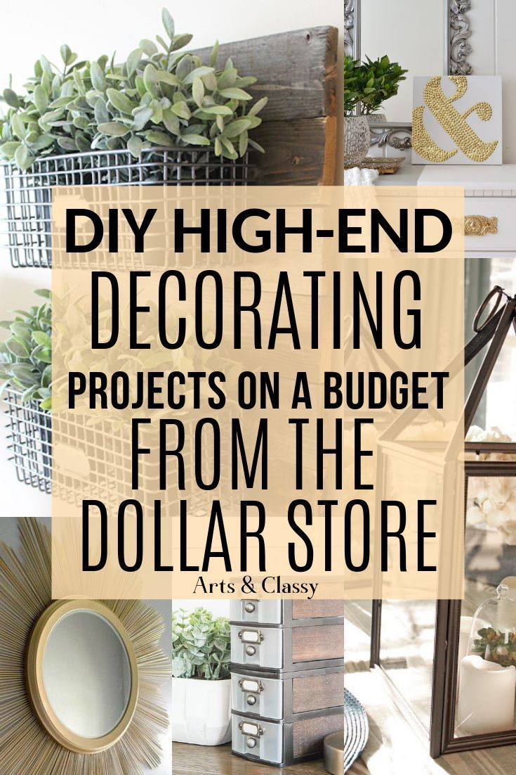 Erfahren Sie, wie Sie Ihre Kreativität einsetzen, um Artikel aus dem Dollar Store in schicke ...