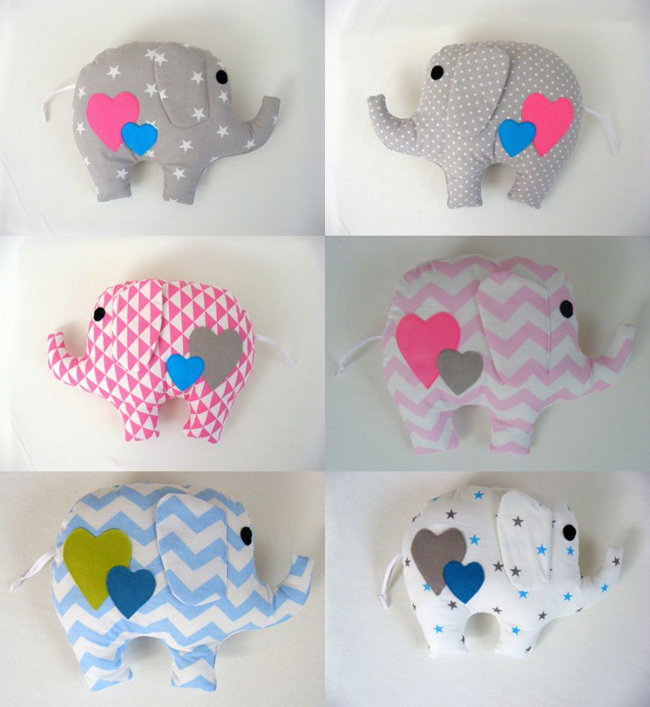 Details About Gorgeous Handmade Elephant Pillow Baby Gift