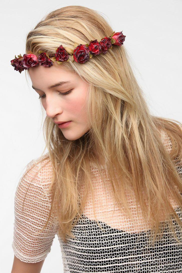 Cult gaia crimson flower crown headwrap urbanoutfitters ong cult gaia crimson flower crown headwrap izmirmasajfo