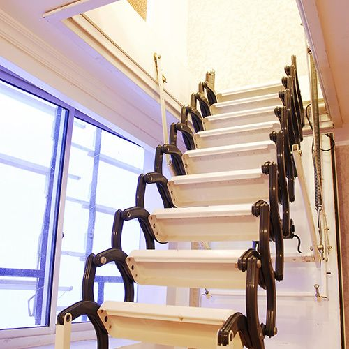 Attic Steps With Handrail Google Search Types Of Stairs Attic Ladder Stairs