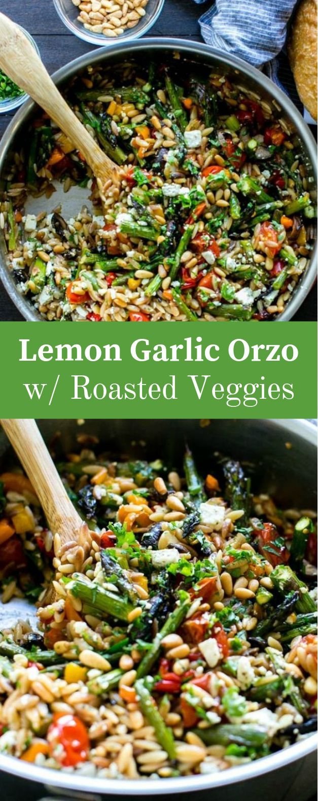 LEMON GARLIC ORZO WITH ROASTED VEGETABLES LEMON GARLIC ORZO WITH ROASTED VEGETABLES