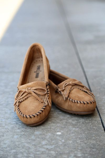 Rage The Suede {taupe} Moccasin Minnetonka From 43Moda Kilty 6yvgYbf7