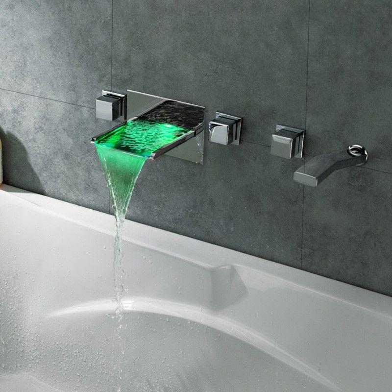 Koko LED Waterfall Wall Mount Bathtub Filler Faucet | Fix That ...