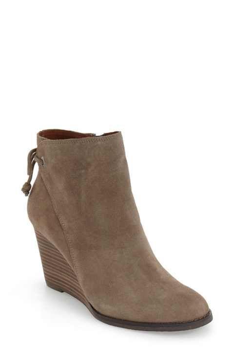 c296e5f13dfc Lucky Brand  Yamina  Wedge Zip Bootie (Women)