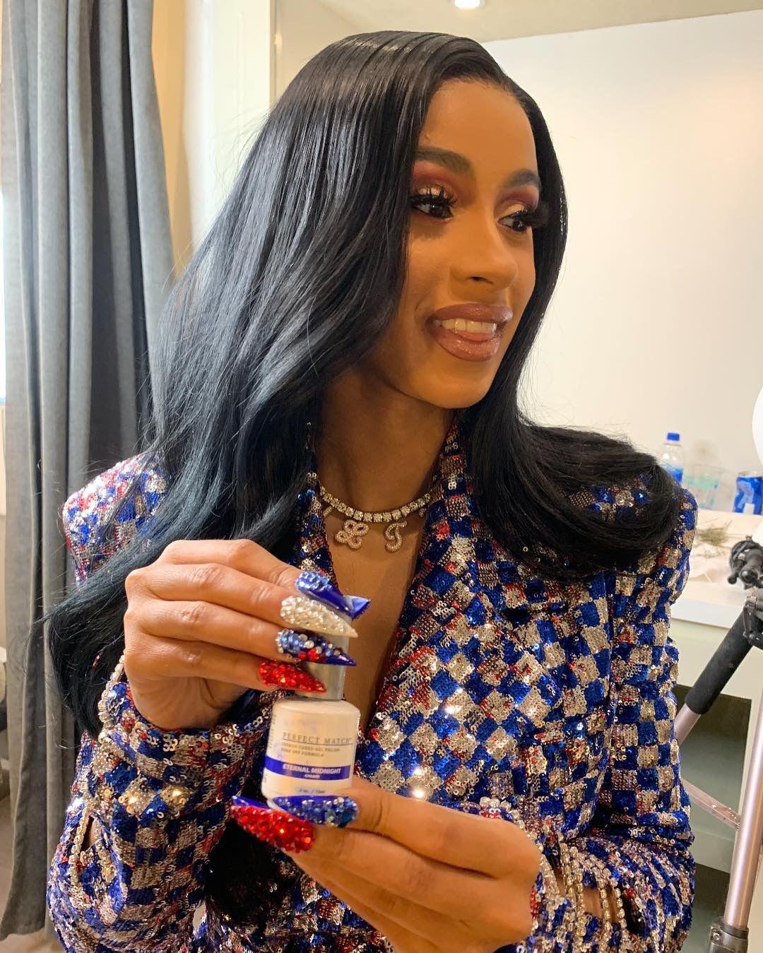 Cardi Bts Of Pepsi Commercial Cardi B In 2019 Cardi B Nails