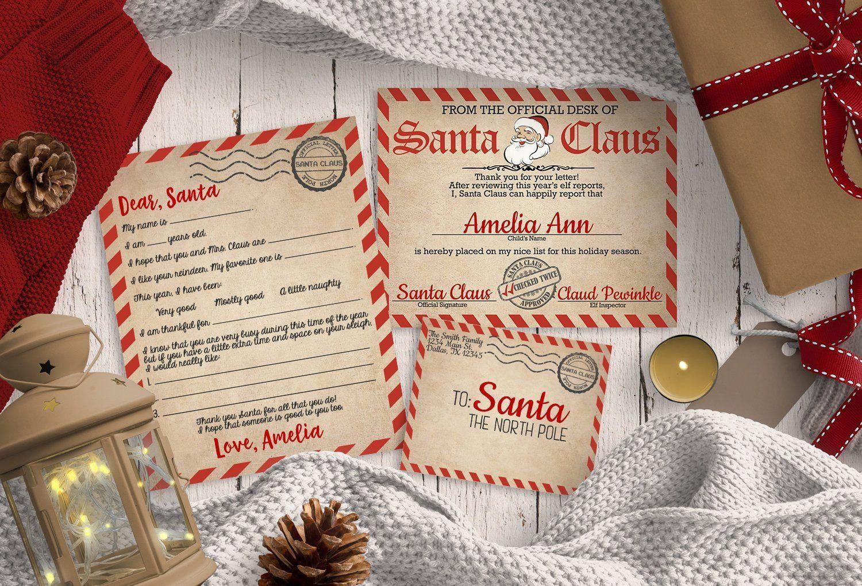 Letter to Santa Kit, Santa Certificate, Letter to North