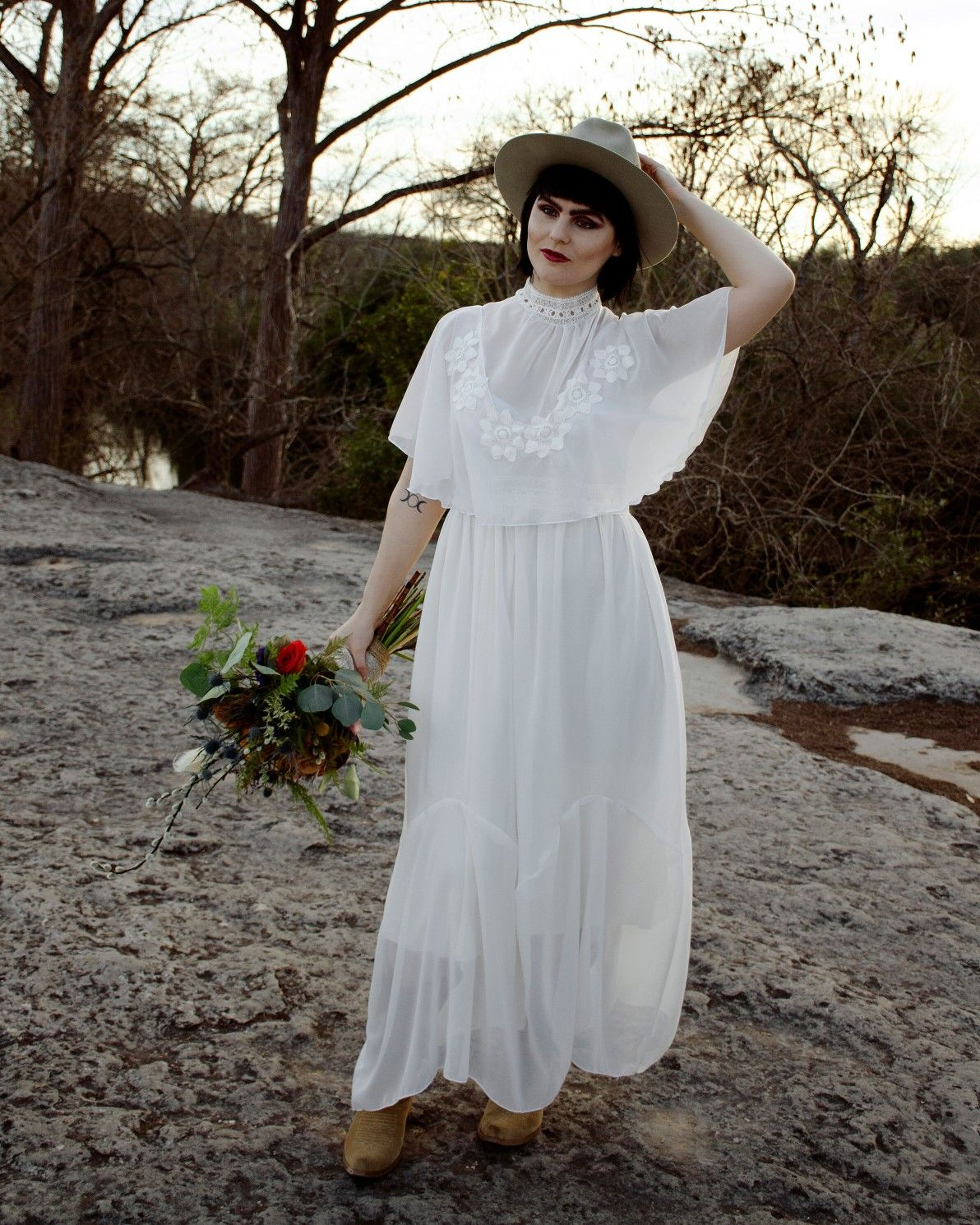 Southwest bridal gown made in Austin Texas in 2020