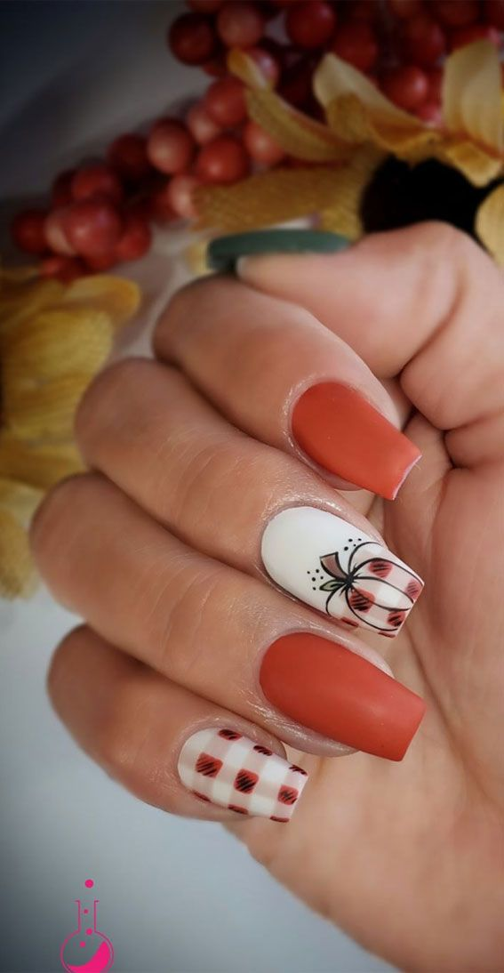 40 Beautiful Nail Design Ideas To Wear In Fall : p