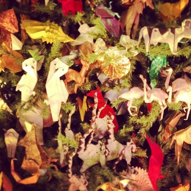 Models on the Origami Holiday Tree
