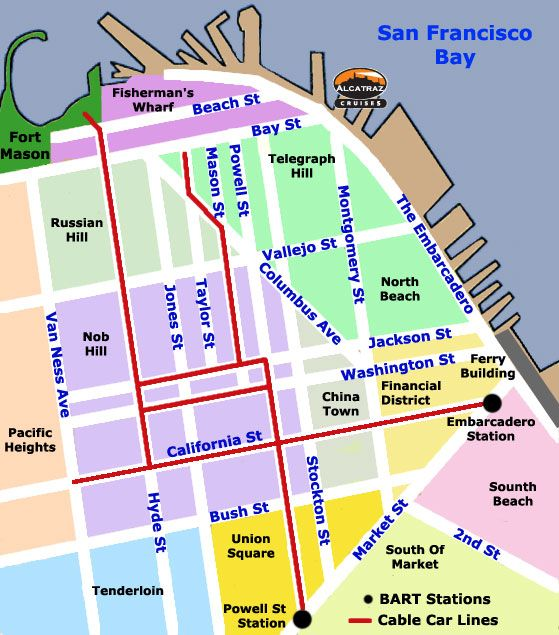Trams San Francisco Map.San Francisco Cable Car Map San Francisco Cable Car Map San