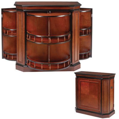 Found it at Wayfair - Bar Cabinet with Spindle | BBQ | Pinterest ...
