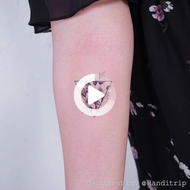 Sunflower Tattoo Minimalist Wrist