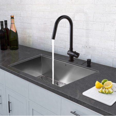 vigo allinone 32 inch stainless steel undermount kitchen sink and gramercy matte