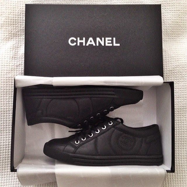 Wpid Chanel Mens Sneakers Black Leather Shoes Online Shop Price