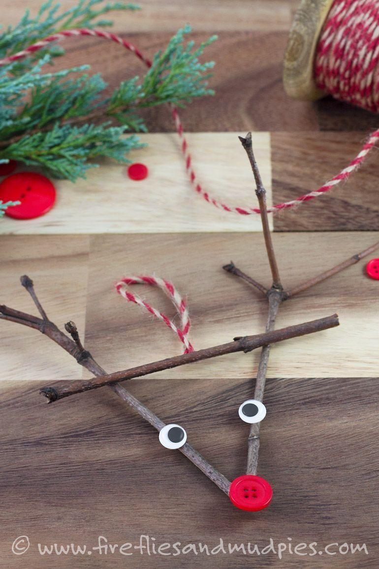 Twig Reindeer Ornaments#ornaments #reindeer #twig