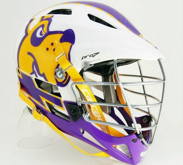 Suny Albany Mens Lacrosse New Helmet Decals Lacrosse And Helmets - Lacrosse helmet decals
