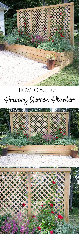 Privacy Screen Planter DIY - Gina Michele