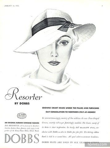 Dobbs (Millinery) 1935 Hats Hats? 1930s, dahling. Pour