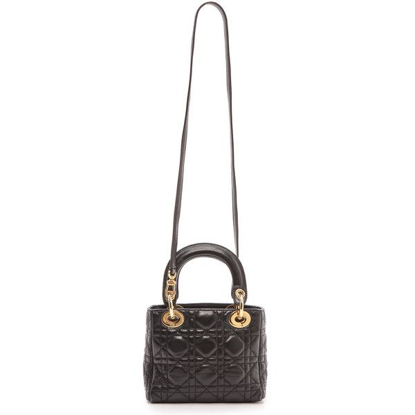 What Goes Around Comes Around Dior Lady Dior Mini Bag - Black ... 6705798ee0337