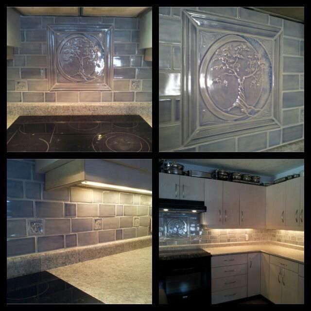 Kitchen Backsplash With Glass Tile Accents: Kitchen Backsplash By Pistrucciartworks.com