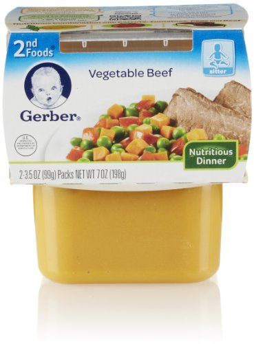 gerber 2nd foods vegetable and beef 8 count 7 oz each find out more about the great product at the image link