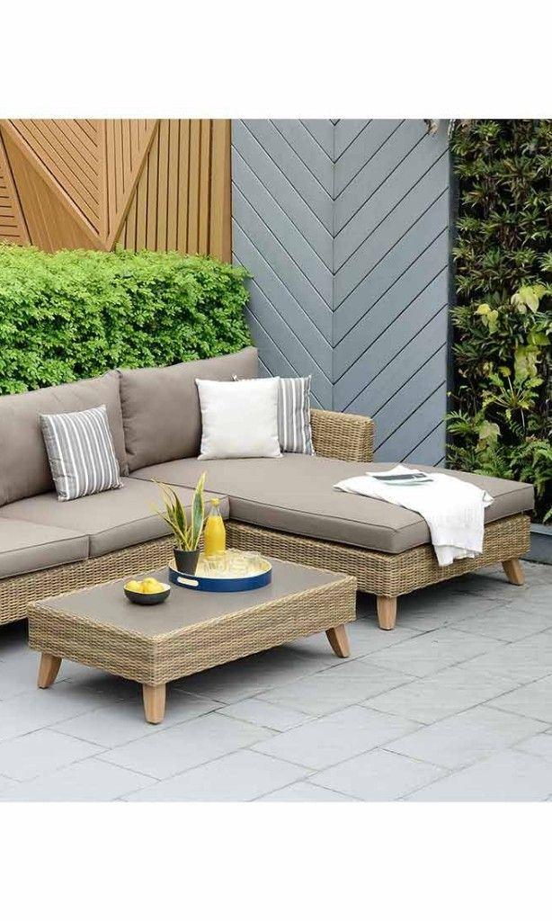 Gartensofa hellbraun / Gartenlounge hellbraun Mehr Loungemöbel für