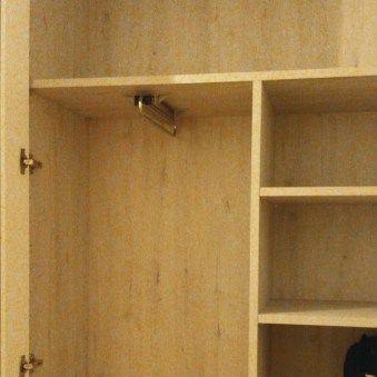 Interior armario fondo reducido a medida Barra colgar